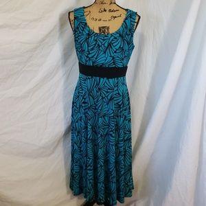 Perceptions Women's Empire Waist Pattern Dress 10P